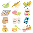Baking icons — Stock Vector #8180915