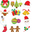 Christmas icons — Stockvektor  #8180991