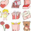 Valentine icons — Vector de stock