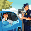 Traffic violation - Stockvectorbeeld