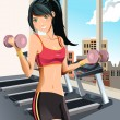 Royalty-Free Stock Immagine Vettoriale: Girl exercising