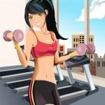 Girl exercising — Stock Vector