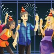 Royalty-Free Stock Vector Image: New Year celebration party