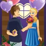 Couple on Valentine's day — Stock Vector