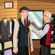 Royalty-Free Stock Imagen vectorial: Tailor fitting for suit