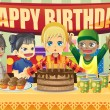 Royalty-Free Stock Imagen vectorial: Kids birthday party