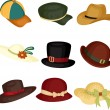 Vector de stock : Hats
