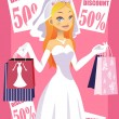 Shopping bride — Stock Vector #8181561