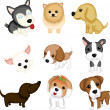 Dog breeds — Stock Vector