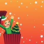 Christmas girl — Stock Vector #8181757