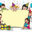 Stock Vector: Birthday party invitation