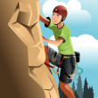 Rock climber — Stock Vector #8182088