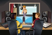 Music recording studio — Stock Vector