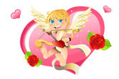 Valentine cupid — Vector de stock