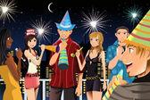 Праздник Новый год — Cтоковый вектор