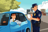 нарушение правил дорожного движения — Cтоковый вектор