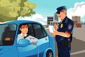 Violazione del traffico — Vettoriale Stock