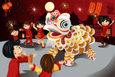 Chinese New Year celebration — Vecteur
