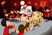 Célébration du nouvel an chinois — Vecteur