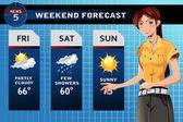 Weather reporter — Stock Vector
