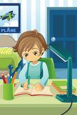 Estudio de niño — Stok Vektör