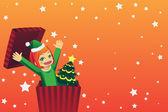 Vánoční dívka — Stock vektor