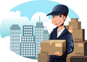Delivery man — Stock Vector