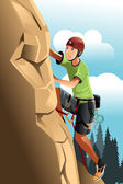 Rock climber — Stock Vector