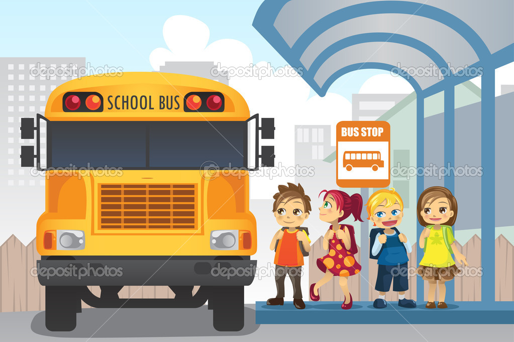 Bus Stop ad Vector at a Bus Stop Vector by