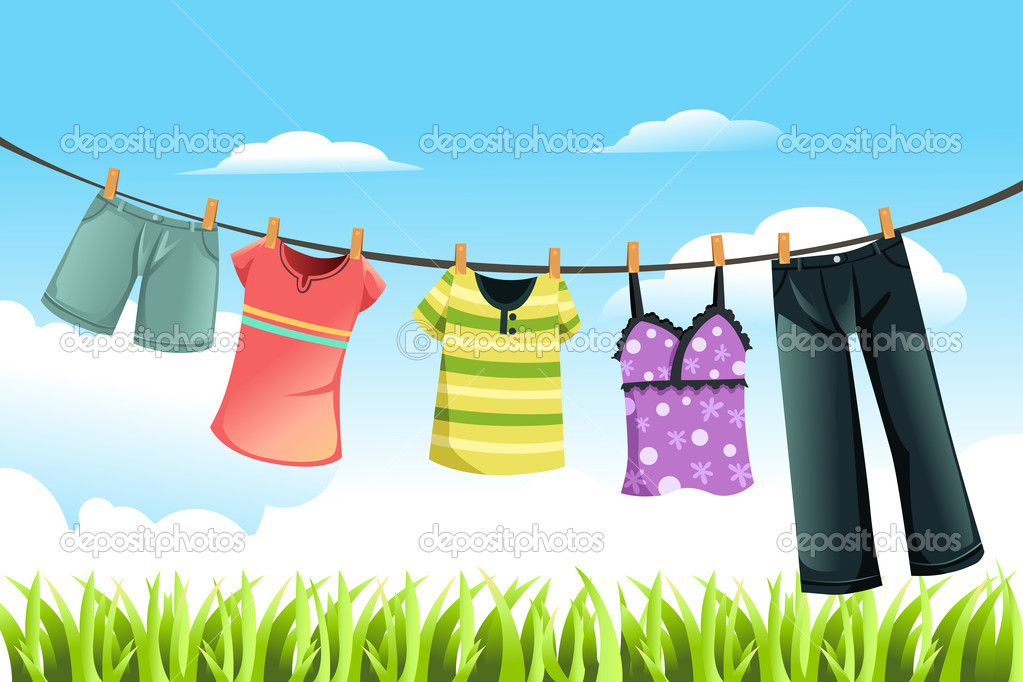 Drying Baby Clothes Outside