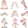 Royalty-Free Stock Vector Image: Wedding icons