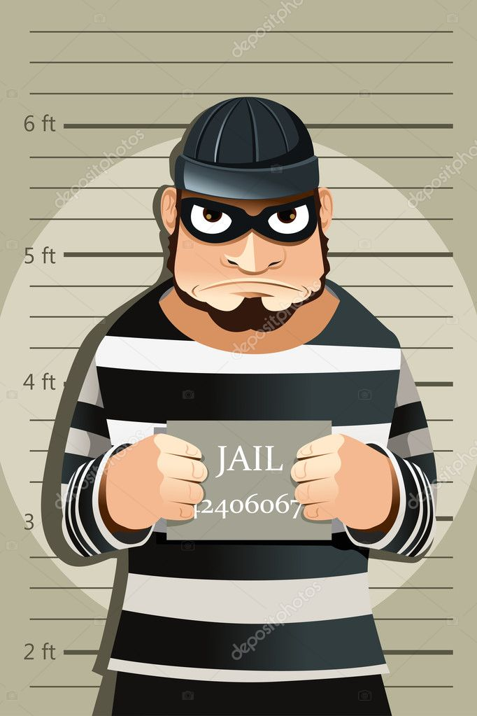 A vector illustration of a criminal mug shot — Stock Vector #8283226
