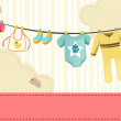 Baby clothings — Stock Vector