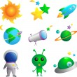 Royalty-Free Stock Vector Image: Astronomy icons
