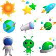 Astronomy icons - Stock Vector