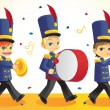 Marching band — Vettoriali Stock