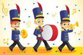 Marching band — Vettoriale Stock