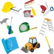 Construction icons — Stock Vector #8408312