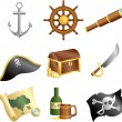 Pirates icons - Stock Vector