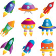 Rockets icons — Stock Vector