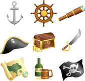 Pirates icons — Stock Vector