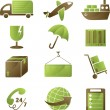 Shipping icons — Vector de stock #8470832
