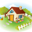 Royalty-Free Stock Imagem Vetorial: House vector illustration