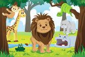 Animal kingdom — Stock Vector