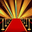 Stock Vector: Red carpet
