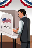 Voting man — Stock Vector