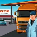 Truck driver — Stock Vector #8775017