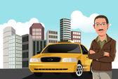 Taxi driver — Stock Vector
