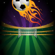 Stock Vector: Soccer background