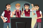 Fani piłki nożnej — Wektor stockowy